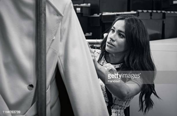Undated handout photo issued by Kensington Palace of The Duchess of Sussex, Patron of Smart Works, in the workroom of the Smart Works London office....