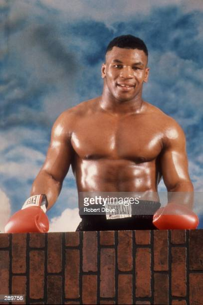 Heavyweight boxer Mike Tyson poses for a studio portrait