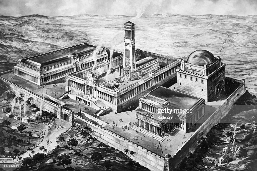 Illustration of King Solomon's Temple : News Photo