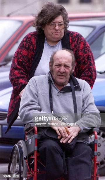 Undated library picture of former foster parents Jeffrey and Brenda Tanner arriving outside Kings Lynn Crown Court Norfolk where they were found...