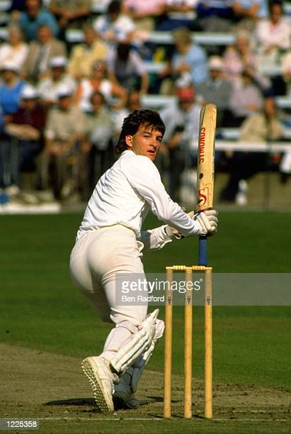 Mark Waugh of Essex in action during the Festival in Scarborough, England. \ Mandatory Credit: Ben Radford/Allsport