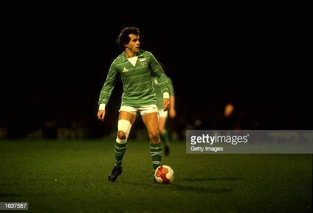 Michel Platini of St. Etienne in action during a French League match. \ Mandatory Credit: Allsport UK /Allsport