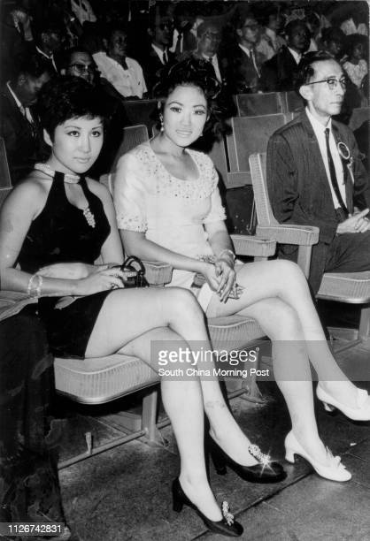 Undated photo of actresses Betty Ting Pei and Yu Chien attending Standard Raido Corporation's anniversary celebrating held in City Hall