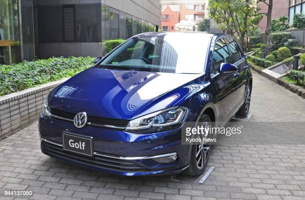Undated photo shows a customized 'Tech Edition' of the Golf compact vehicle that Volkswagen Group Japan KK sells in Japan ==Kyodo