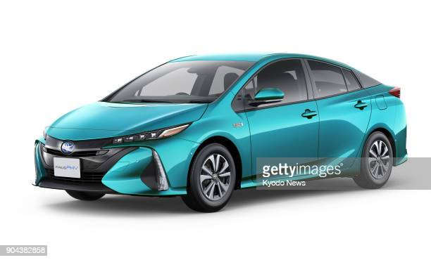 Undated photo shows a Safety Plus version of the Prius PHV hybrid vehicle Toyota Motor Corp unveiled in Dec 25 2017 The automaker said the model can...