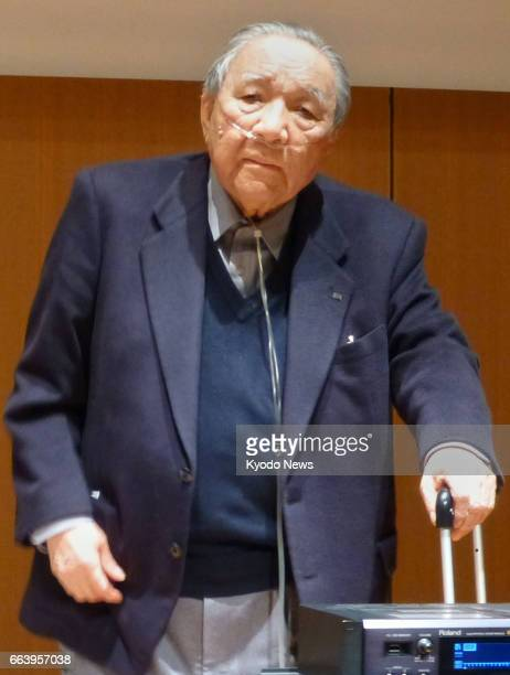 Undated photo shows Ikutaro Kakehashi the founder of Japanese electronic musical instruments maker Roland Corp in Hamamatsu Shizuoka Prefecture where...