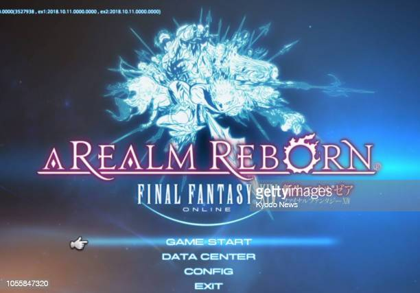 Undated photo shows the start screen of the Final Fantasy XIV online game Servers of the game has been hit by multiple distributed denialofservice...