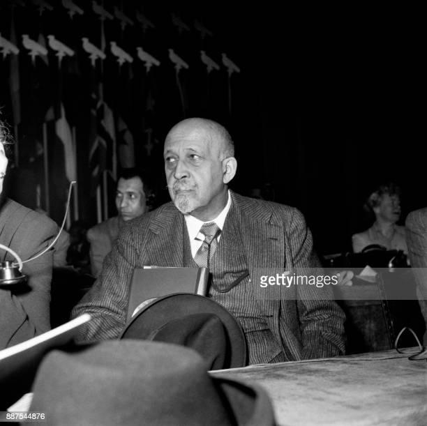 Undated photo shows William Edward Burghardt 'W E B' Du Bois US sociologist historian civil rights activist PanAfricanist author writer and editor /...