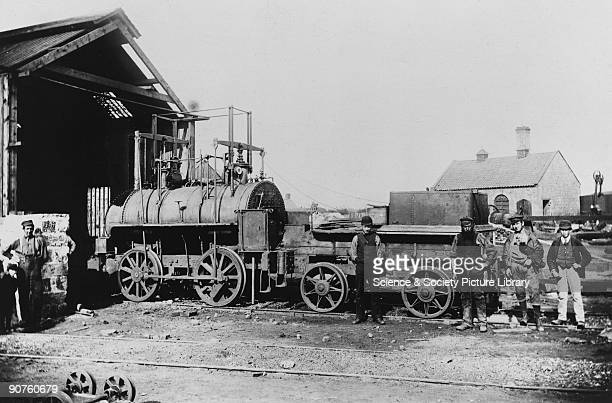 Undated photograph of the Springwell Colliery Engine No 2 which was built by Robert Stephenson in 1826. In 1829, British engineer and mechanic...