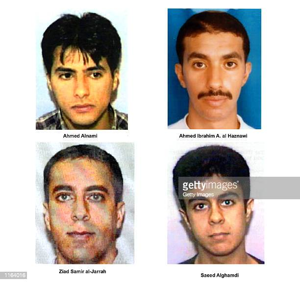 Undated photos of suspected hijackers of United Airlines flight that crashed in rural Pennsylvania released by the FBI September 27 2001 in...