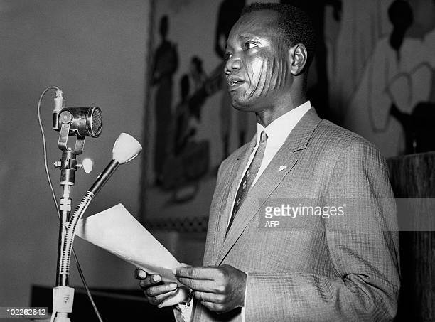 Undated picture of Chadian President Francois Tombalbaye delivering a speech Chad independence was proclaimed on August 11 1960 and Francois...