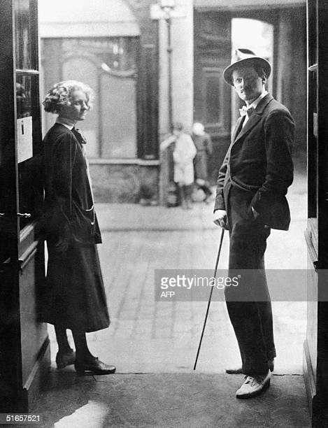 Undated picture of James Joyce and Sylvia Beach