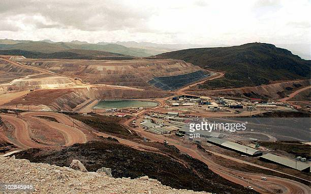 Undated picture of the gold mine Yanacocha in Cajamarca 1000 km northeast of Lima Peru The biggest gold mine in Latin America located in the north of...
