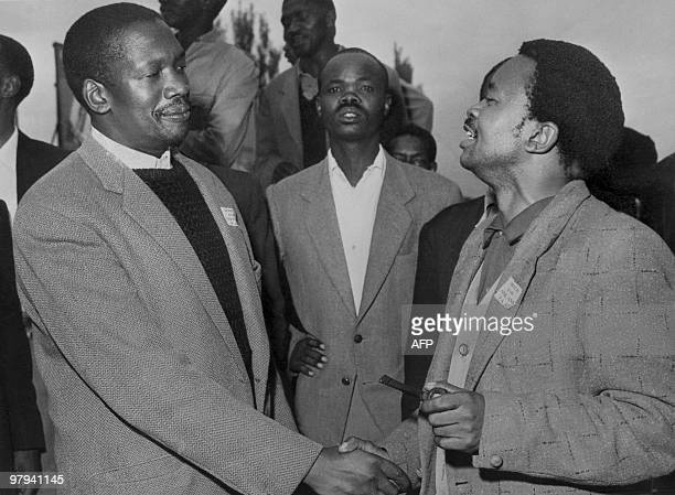 Undated picture of the South African Pan Africanist Congress founder Robert Sobukwe with Potlako Leballo member of the PAC The Pan Africanist...