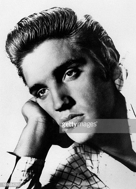 Undated picture of US rock star Elvis Presley born in Tupelo Mississipi on January 81935 and dead 16 August 1977 in Memphis AFP PHOTO