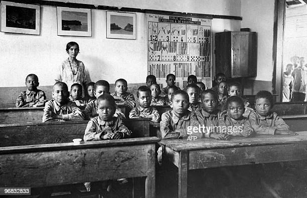 Undated picture showing a school in Bingerville former French Ivory Coast French President Jacques Chirac 25 January 2006 sent to the country's...