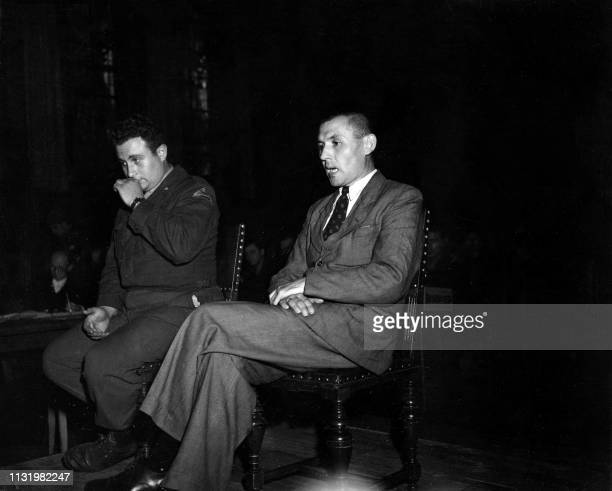 Undated picture showing Alfons Klein , the director of the Hadamar's psychiatric clinic accused in the Belsen's trial dedicated to nazi program of...