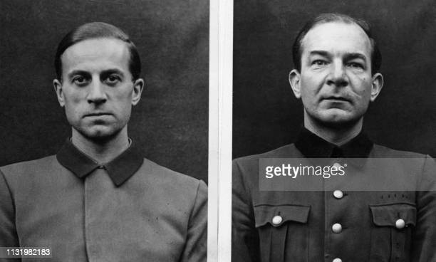Undated picture showing Karl Brandt and another person accused in the Belsen's trial dedicated to nazi program of euthanasia called Aktion T4 aimed...