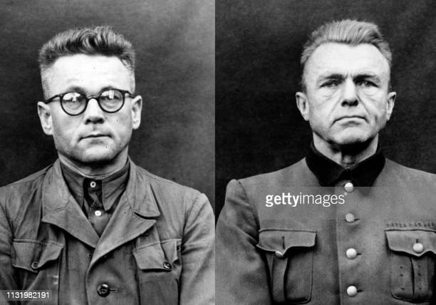 Undated picture showing Karl Gebhardt and another person accused in the Belsen's trial dedicated to nazi program of euthanasia called Aktion T4 aimed...