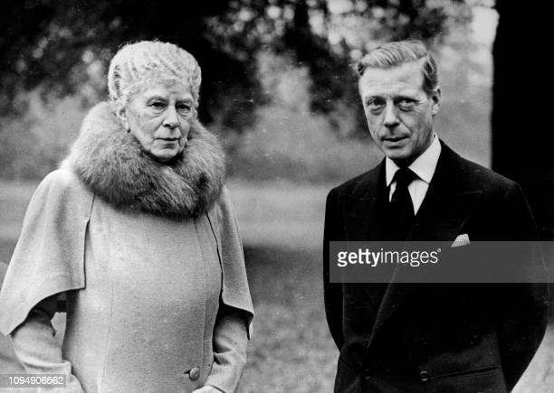 Undated picture showing Queen Mary along with the Duke of Windsor at London