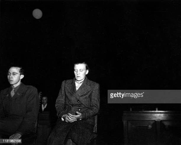 Undated picture showing the nurse Irmgard Huber accused in the Belsen's trial dedicated to nazi program of euthanasia called Aktion T4 aimed at...