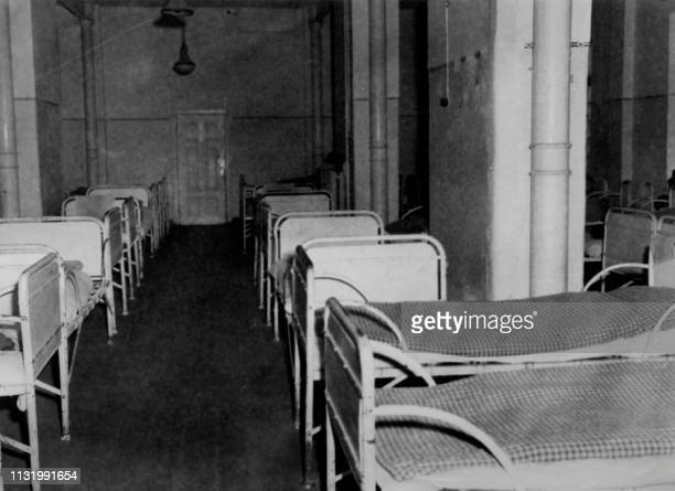 """Undated picture showing the reception room of the psychiatric clinic at Hadamar where the """"patients"""" waited for the mortal injections as part of the..."""