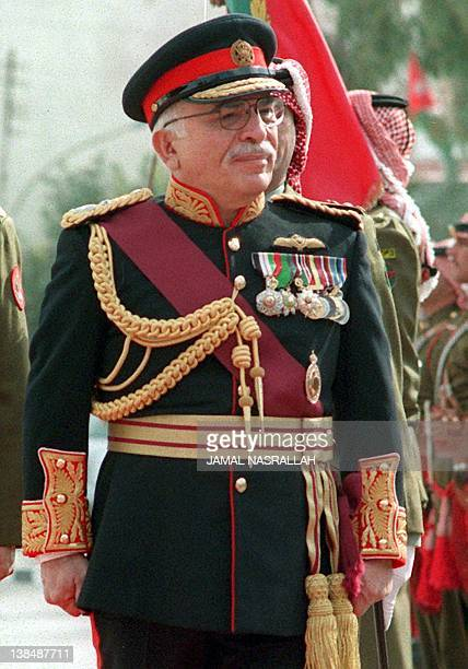 - Undated picture shows King Hussein of Jordan opening the Jordanian parliament in 1997. It was announced 23 July that the king was feared to have...