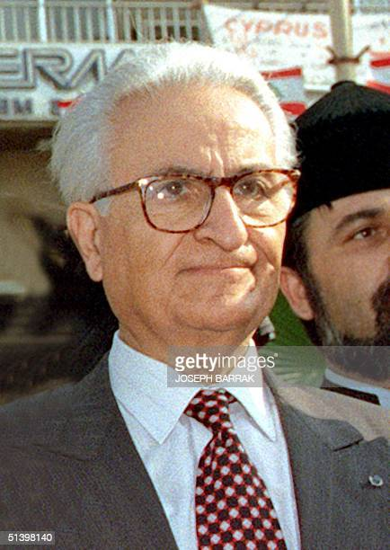Undated picture shows Lebanese MP Khatchig Babikian, a former government minister of Armenian origins, who died 04 November 1999 after a long...
