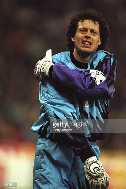 Portrait of Benfica goalkeeper Michel Preud''Homme during a match Mandatory Credit Allsport UK /Allsport