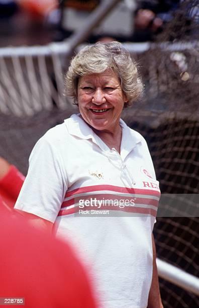 Portrait of Cincinnati owner Marge Schott during spring training practice sessions in Cincinnati Ohio Mandatory Credit Rick Stewart/Allsport