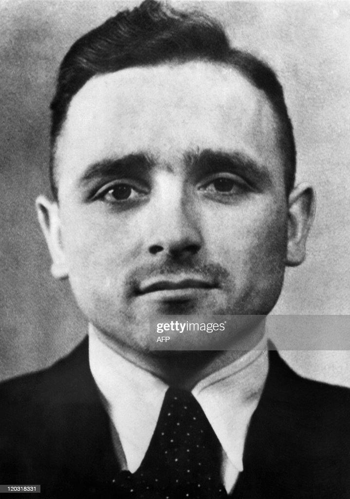 Undated portrait of former SS officer Kl : News Photo