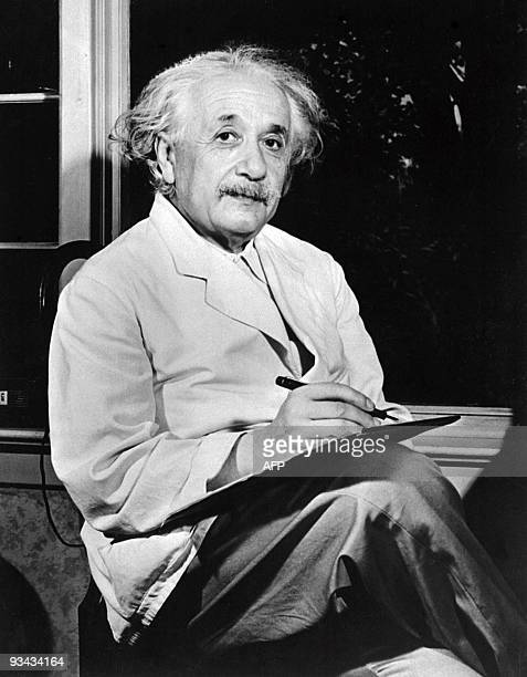 Undated portrait of German-born Swiss-US physicist Albert Einstein , author of theory of relativity, awarded the Nobel Prize for Physics in 1921.