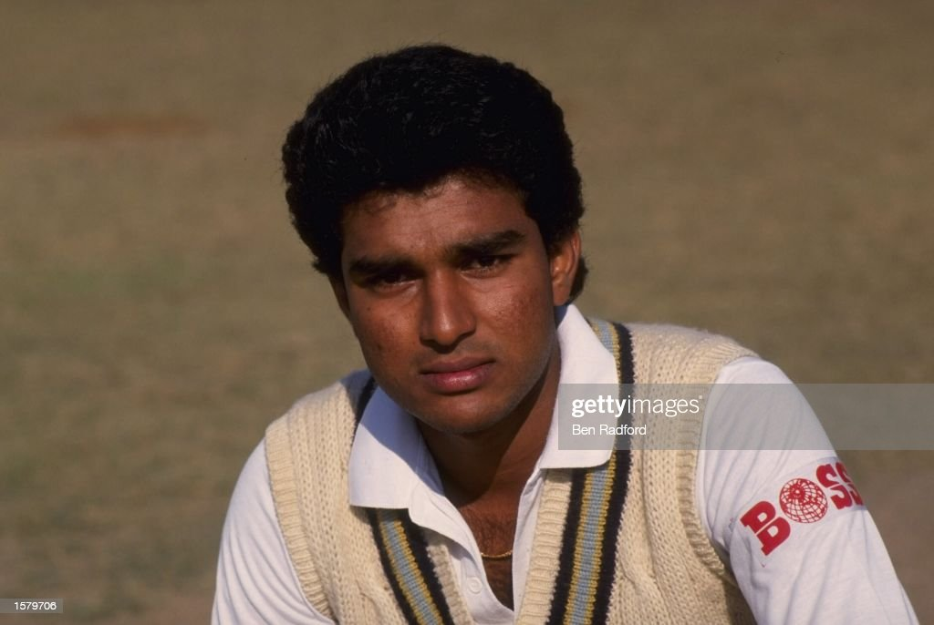 Portrait of Sanjay Manjrekar of India.