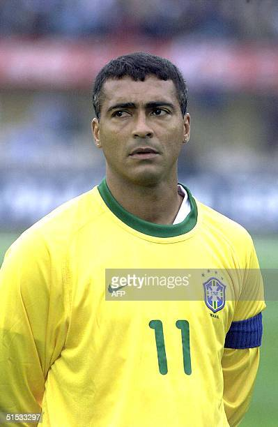 Undated recent portrait of Brazilian national soccer team captain and forward Romario taken before a friendly soccer match in Quito Brazil's World...