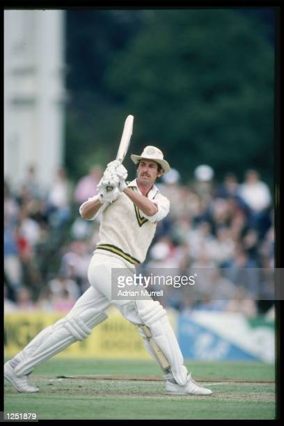 Richard Hadlee of New Zealand batting during the John Player League Match at Cheltenham Mandatory Credit Adrian Murrell/Allsport