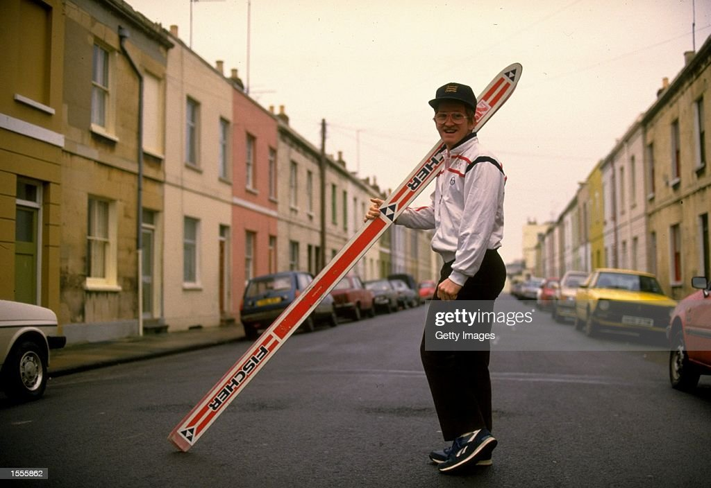 Ski Jumper Eddie Edwards of Great Britain poses for the camera during a feature in his home town of Cheltenham, England. \ Mandatory Credit: Allsport UK /Allsport
