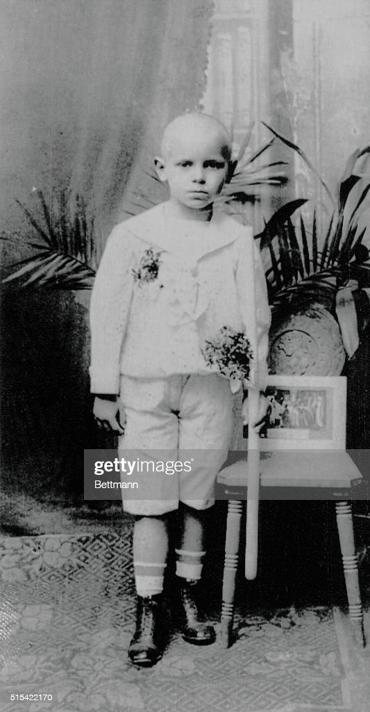 Undated-Krakow, Poland- A childhood picture of Pope John Paul II posing with a candle in his hand after receiving First Communion in his home archdiocese of Krakow. Filed .