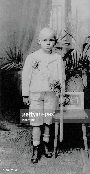 UndatedKrakow Poland A childhood picture of Pope John Paul II posing with a candle in his hand after receiving First Communion in his home...
