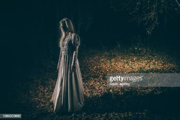 undead woman in the dark - monster fictional character stock pictures, royalty-free photos & images