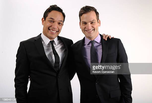 Undefeated Documentary Directors TJ Martin and Daniel Lindsay pose for a portrait during the 84th Academy Awards Nominations Luncheon at The Beverly...