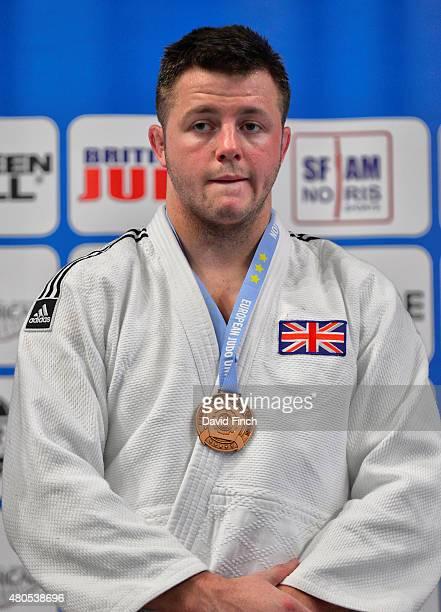 Under 100kg bronze medallist Benjamin Fletcher of Great Britain during the 2015 London European Cup at Wembley Arena London England United Kingdom