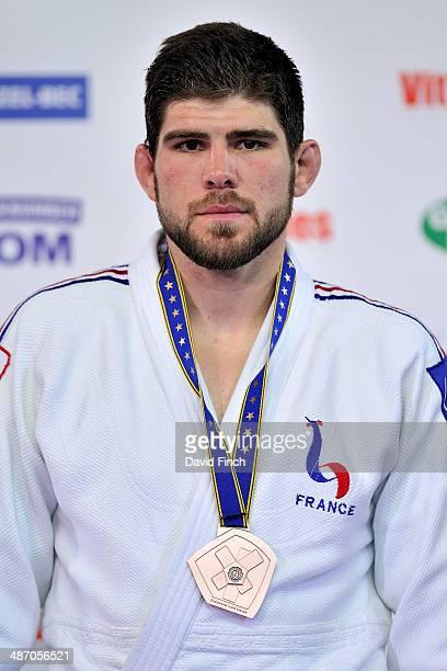 Under 100kg bronze medallist Cyrille Maret FRA at the Montpellier European Judo Championships at the ParkSuites Arena on Saturday April 2014 in...
