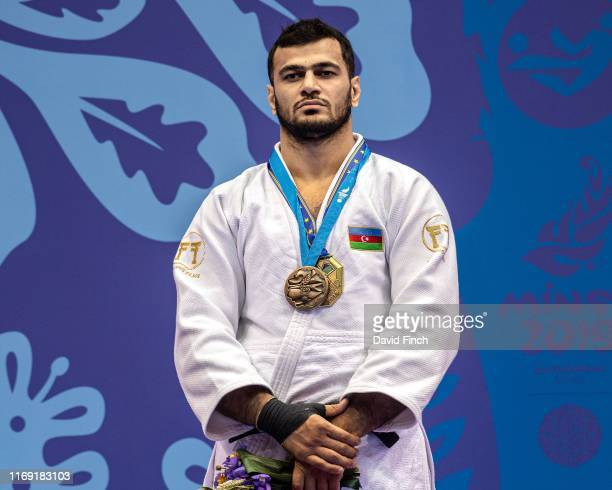 Under 100kg bronze medallist Elmar Gasimov of Azerbaijan during day 4 of the 2019 Minsk European Games at the Chizhovka Arena Minsk Belarus on June...