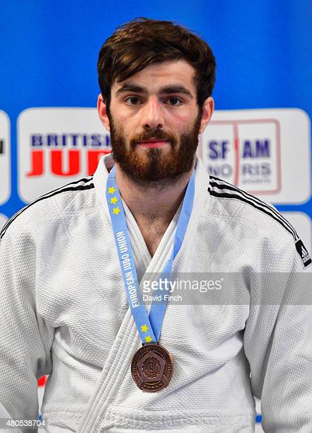 Under 100kg bronze medallist George Smith of Great Britain during the 2015 London European Cup at Wembley Arena London England United Kingdom