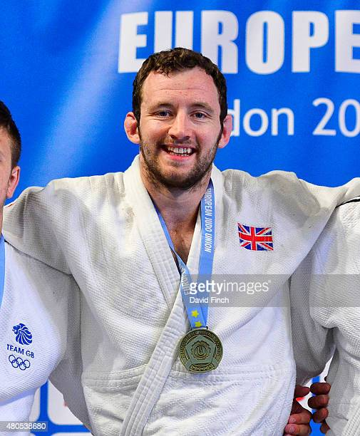 Under 100kg gold medallist Andrew Burns of Great Britain during the 2015 London European Cup at Wembley Arena London England United Kingdom