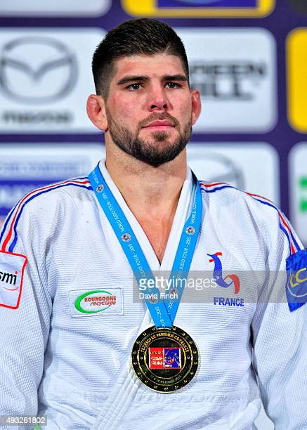 Under 100kg gold medallist Cyrille Maret of France during the 2015 Paris Grand Slam on Saturday at the BercyParis Arena Bercy Paris France