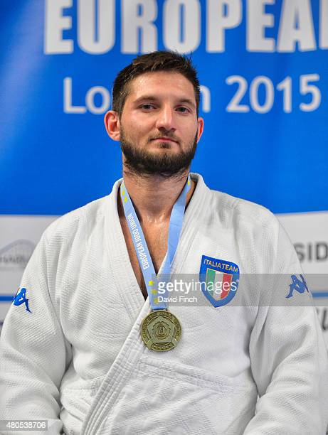 Under 100kg gold medallist Domenico Di Guida of Italy during the 2015 London European Cup at Wembley Arena London England United Kingdom
