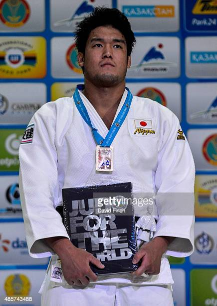 Under 100kg gold medallist Ryunosuke Haga JPN during the 2015 Astana World Judo Championships on day 6 at the Alau Ice Palace on August 29 2015 in...