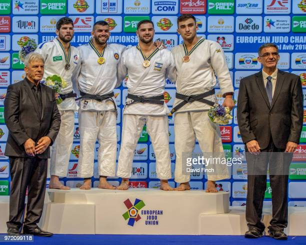 Under 100kg medallists LR Silver Cyrille Maret Gold Toma Nikiforov Bronzes Peter Paltchik and Zelym Kotsoiev The medals were presented by by IJA...