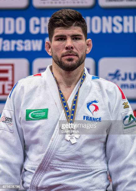 Under 100kg silver medallist Cyrille Maret of France during the 2017 Warsaw European Judo Championships at the Torwar Arena Warsaw Poland